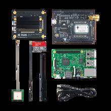 RAK Kit de iniciación RAKwireless RAK2245 Pi HAT, Raspberry Pi 3B +, WisNode LoRa y tarjeta TF de 16G