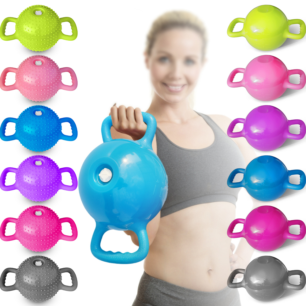 Yoga Fitness Kettle Bell 4 12lb Adjustable Water Kettlebell Dumbbell Double Handles Pilates Body Shaping Home Exercise Yoga Balls Aliexpress