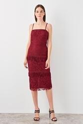 Trendyol Tassel Detail Lace Dress TPRSS19EL0341