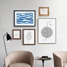 Abstrato senhora linha de arte imagem minimalista nordic pintura em tela figura arte da parede cartazes e impressões para sala estar decoração casa