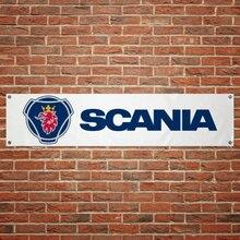SCANIA bannière pvc boutique décoration sport garage décoration Atelier drapeau Atelier décoration