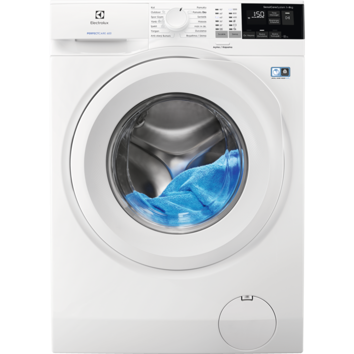 Full Automatic EW6F4822AB Energy Saver A+++ 8 Kg Capacity Laundry Washing Machine 12oo Rev Speed