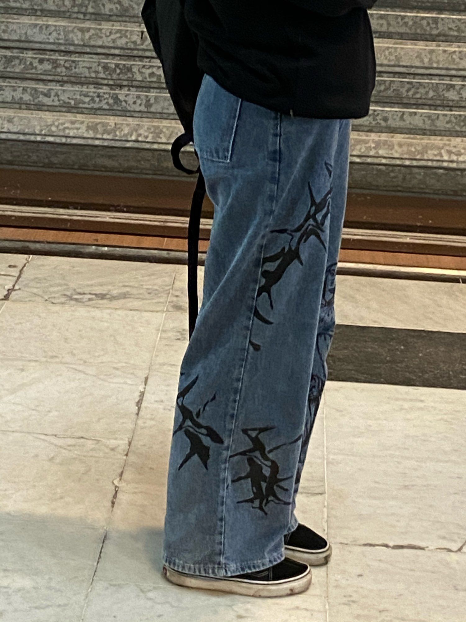 Wide Blue Pants with Print photo review