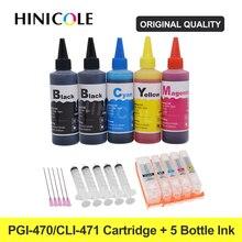 Ink-Cartridge Refillable MG6840 TS5040 PGI-470 Canon XL Hinicole for Mg5740/Mg6840/Ts5040/..