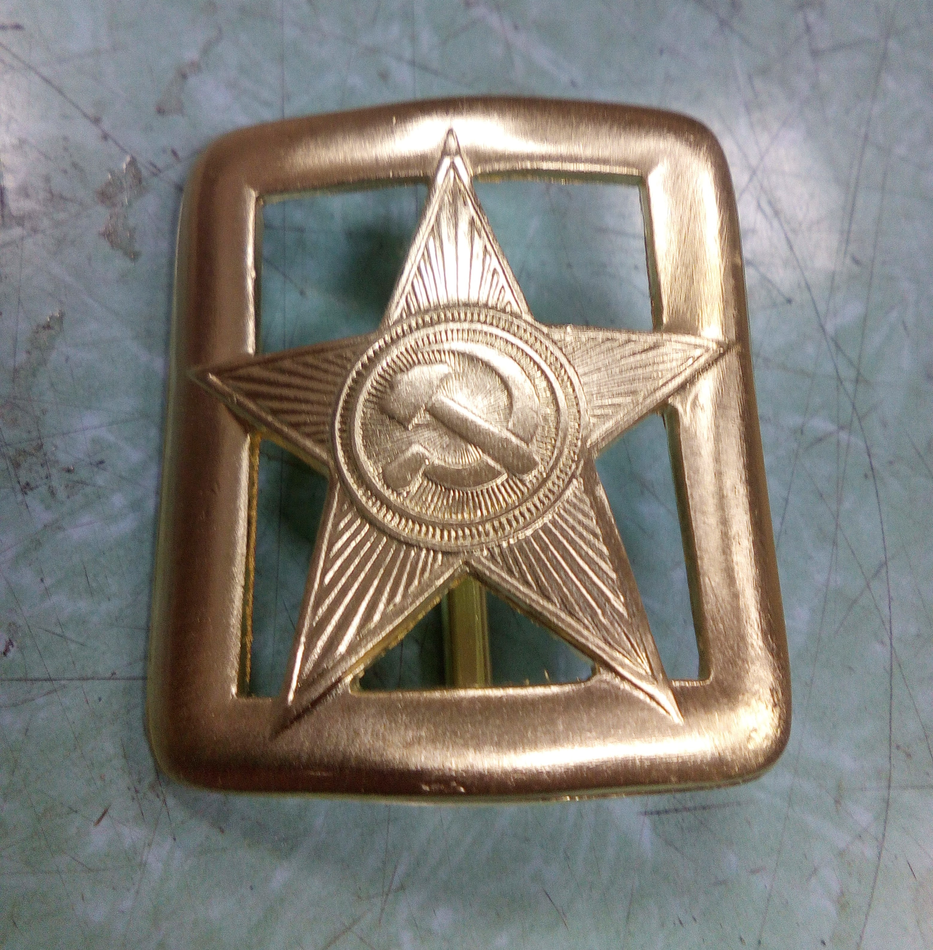 Buckle Brass With Star From генеральского Belt (gear комначсостава 1935 Year)/The Buckle Is Brass With A Star