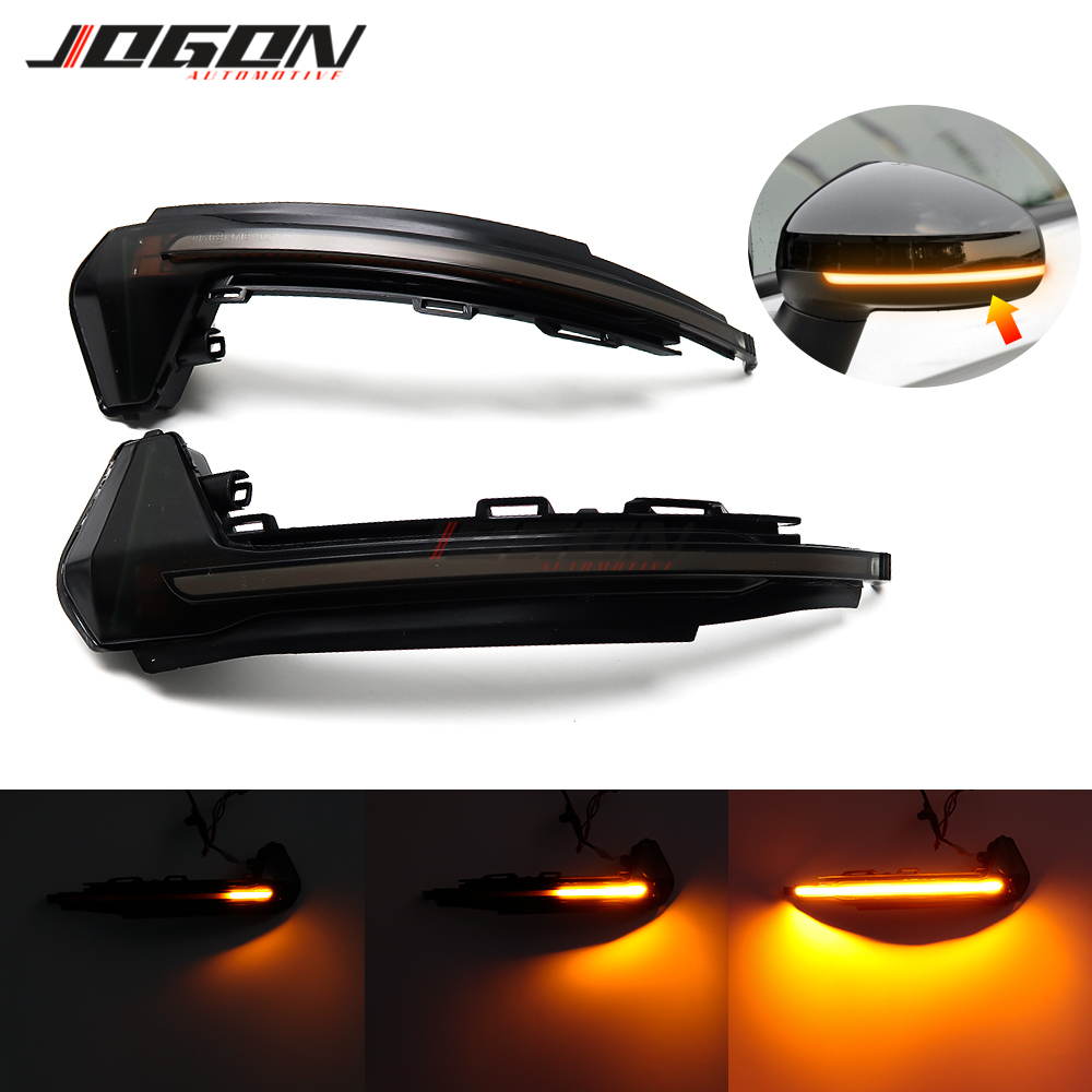 For Audi A1 8X 2011-2017 LED Dynamic Turn Signal Light Side Wing Rearview Mirror Sequential Indicator Lamp Blinker