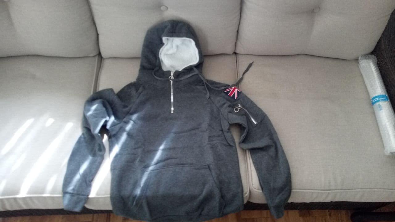 Men's Long Sleeve Hooded Sweatshirt photo review