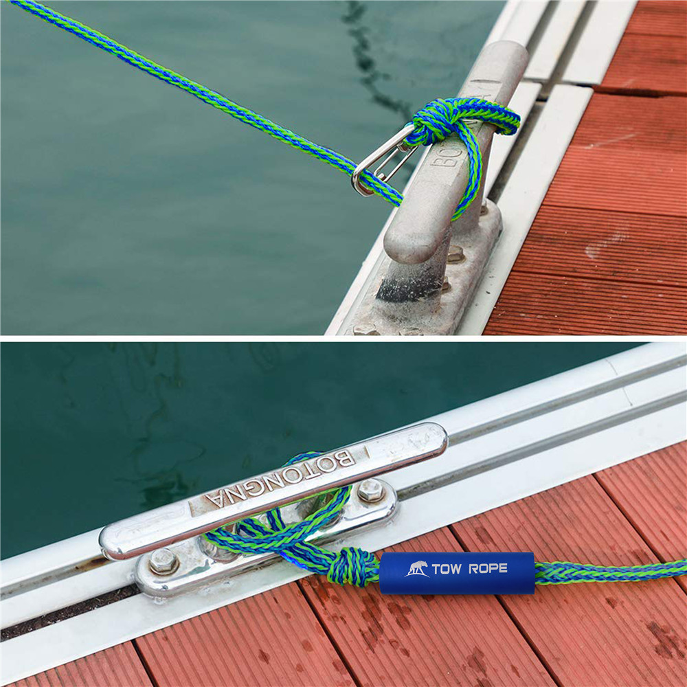 Dock Braided Line Tow Rope Boats Marine Rope Docking Line 2Pcs Mooring Rope for Jet Ski Watercraft Boat Kayak