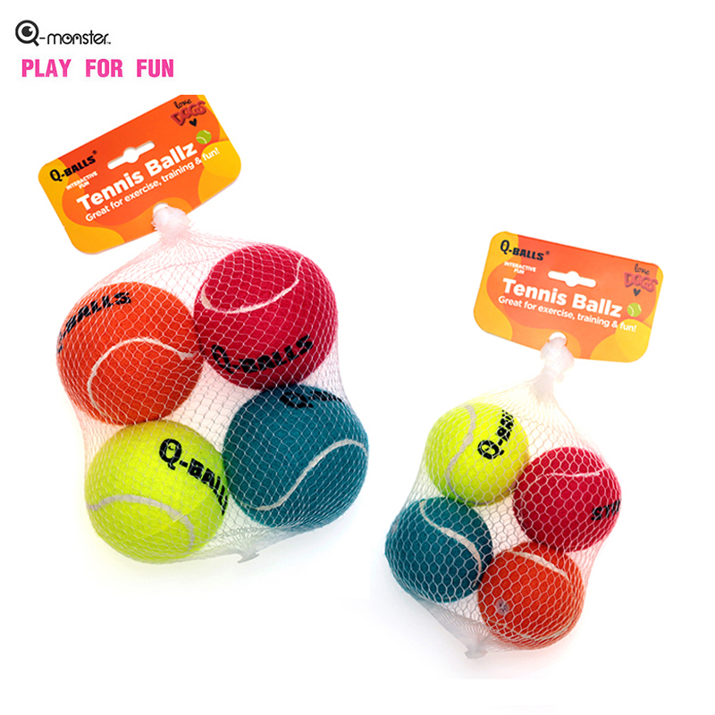 Q-MONSTER Dog Toy Set Thick Walled Natural Rubber Chew Balls for Dogs Tennis Interactive Bouncy Balls for Training 1
