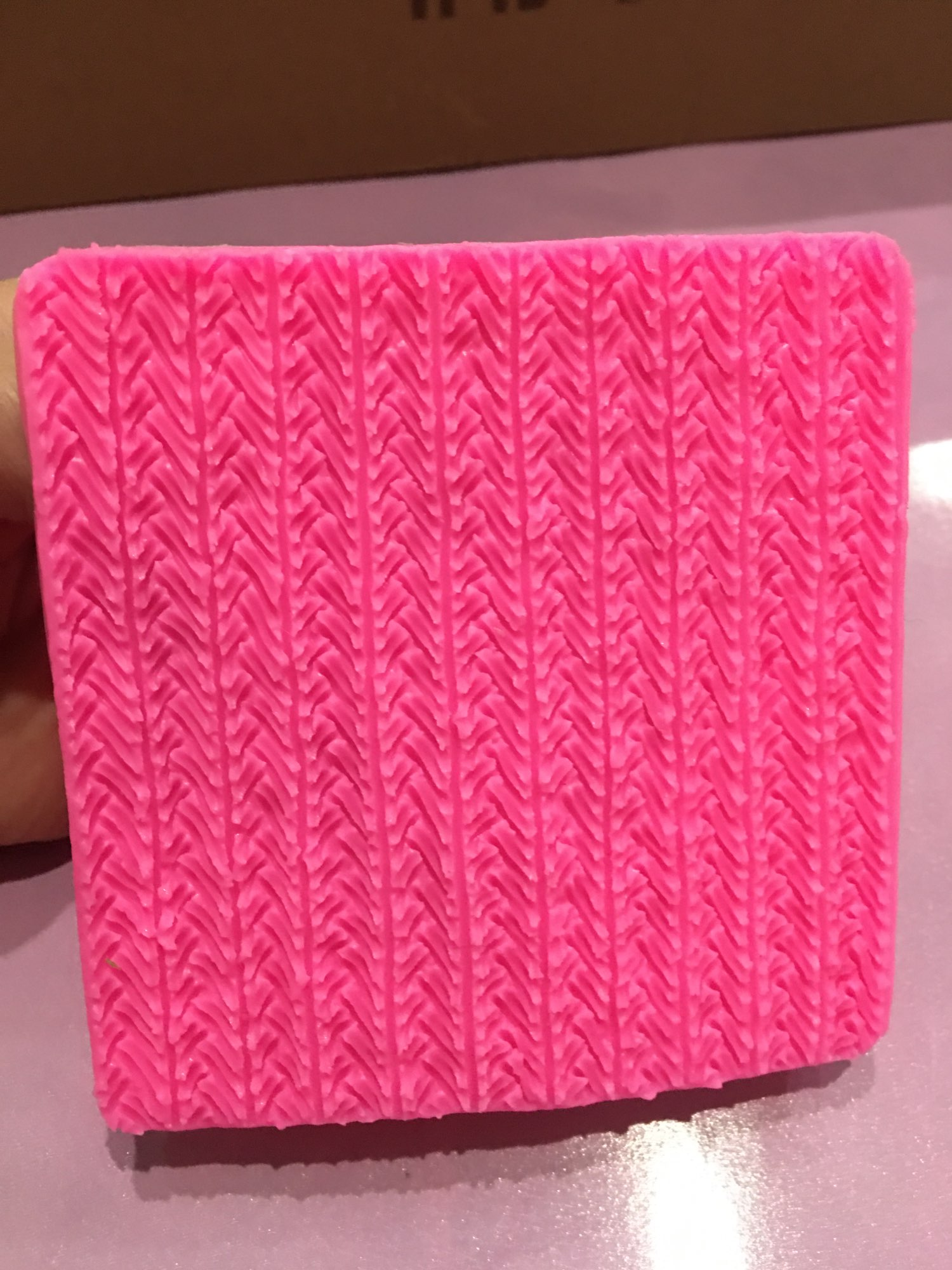 Pink Patterned Textile Cake Decorating Silicone Mold photo review