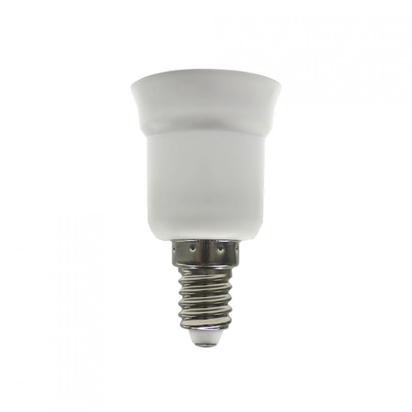 Cap Adapter E14 To E27 White 7hSevenOn Elec