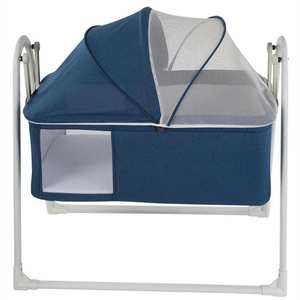 Cradle Jaju Baby Folding Blue Plus Light-Gray Easy-Installation Portable