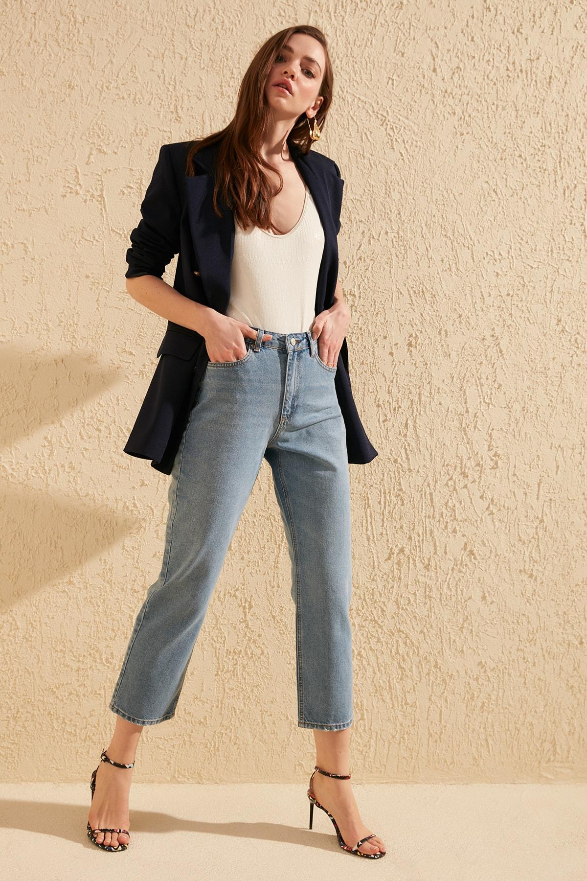 Trendyol High Bel Dad Jeans TWOSS20JE0165