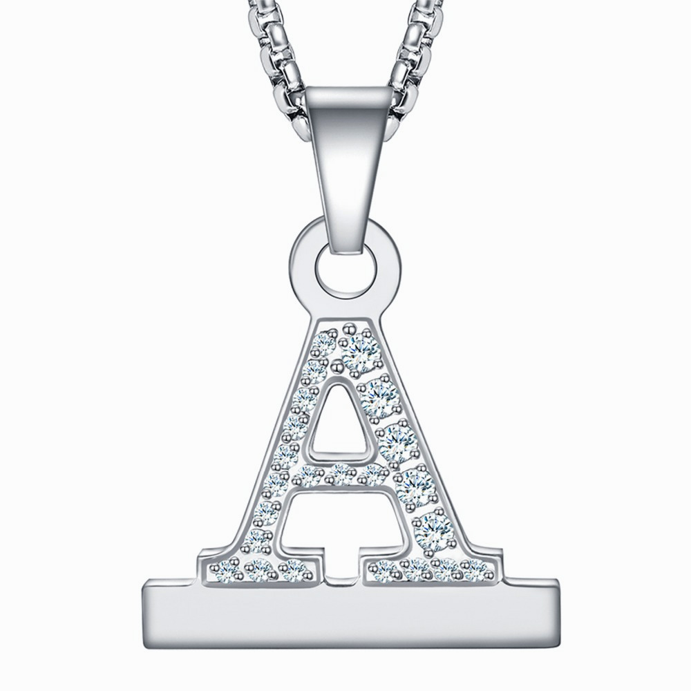 Кристалл Алмаз Алфавит буквы a z ожерелье кулон часы разъем