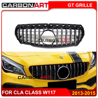 CLA W117 GT style Grille for Mercedes Front Grill for CLA Class W117 C117 CLA200 220 CLA260 300 2013 2015
