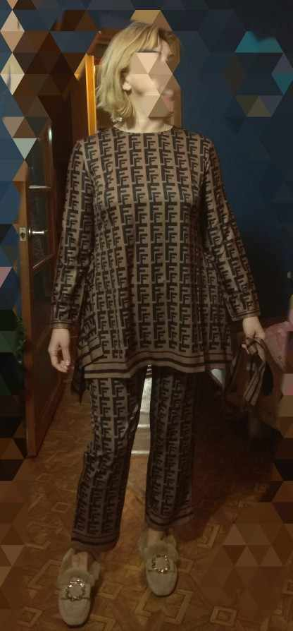 Где купить Толстовка Женская, с буквенным принтом, кофейно-коричневая футболка с длинным рукавом и круглой шеей, с неровными прямыми краями, 2019
