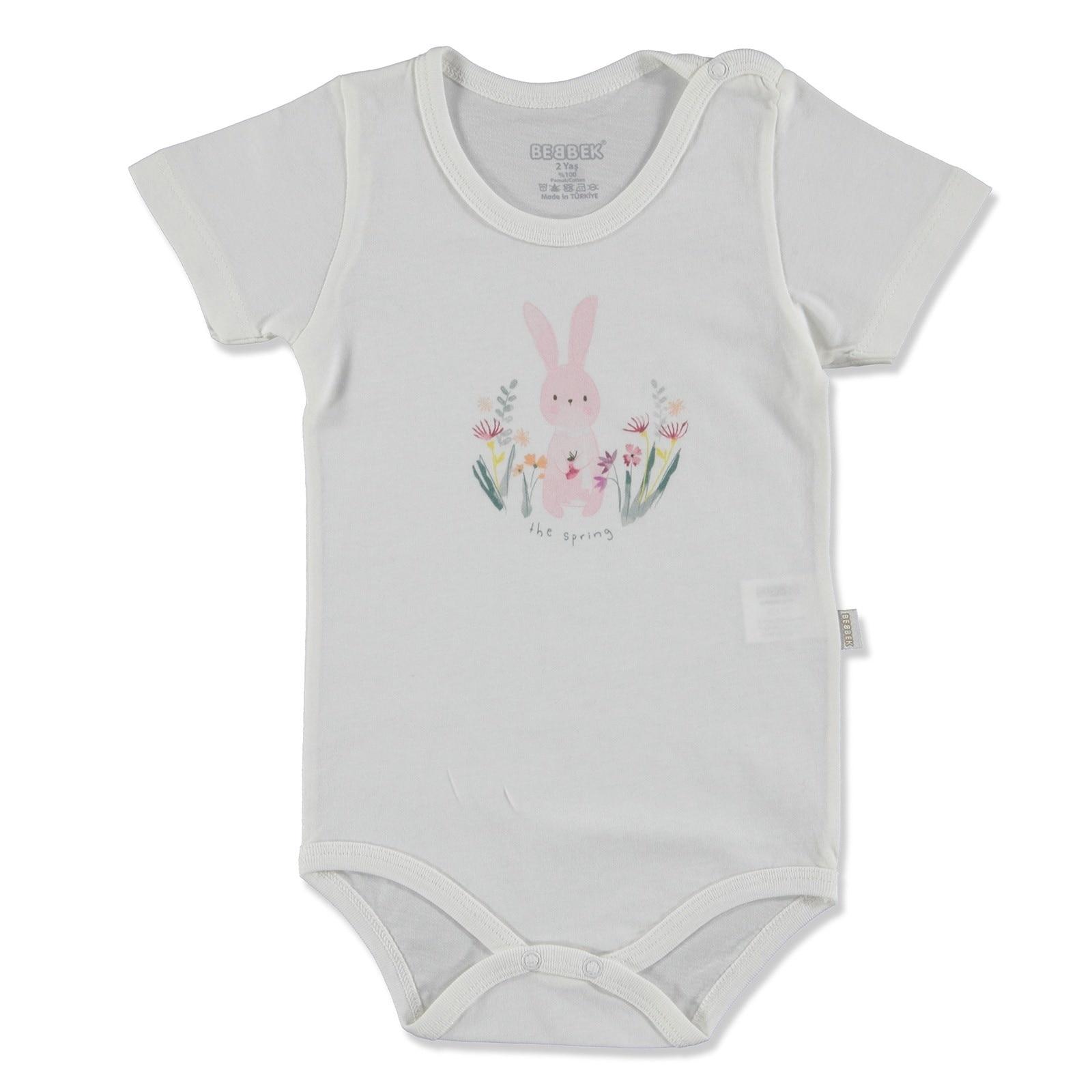 Ebebek Bebbek Summer Baby Girl Spring Supreme Crew-Neck Bodysuit