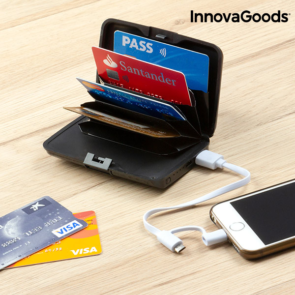 InnovaGoods Security & Power Bank Wallet