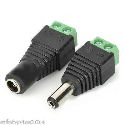 DC female and male Jack adapter 5,5x2,1 aereo Power strip strip CCT