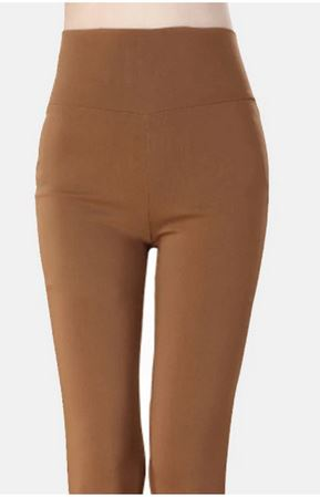 KIL065 Women's High Waist Pencil Pants M002 Solid Bodycon Leggings Trousers Women