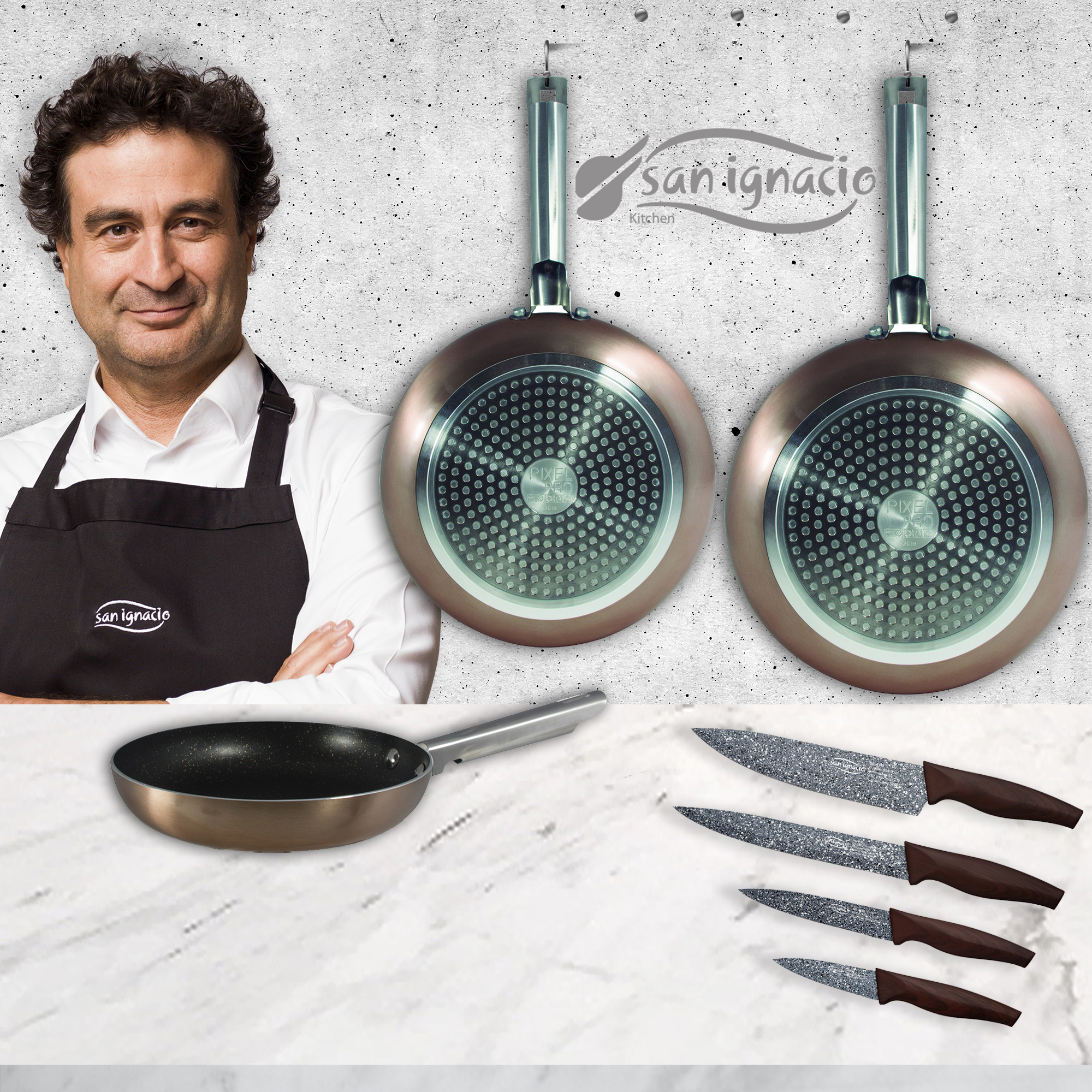 Set of pans (20,24,28cm)…