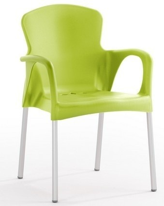 Armchair SEINE Stackable Polypropylene Lime Green *