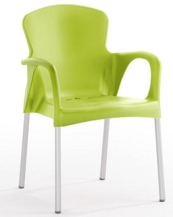 Armchair SEINE Stackable Polypropylene Lime Green *