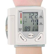 Digital médica lcd automático pulso monitor de pressão arterial bp tonômetro medidor de pulso sphygmomanômetro tansiyon aleti tensiômetro