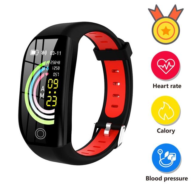 Accalia สมาร์ทฟิตเนสนาฬิกา Heart Rate ความดันโลหิตฟิตเนสสร้อยข้อมือ Man นาฬิกา Tracker หน้าจอขนาดใหญ่