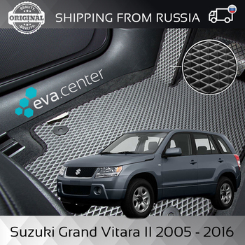 цена на Car Mats EVA for Suzuki Grand Vitara II 2005-2016 set of 4x mats and jumper