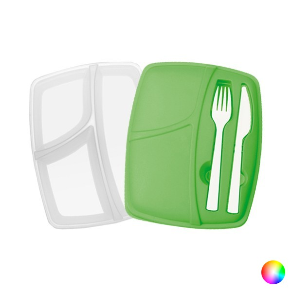Compartment Lunchbox with Cutlery (800 ml) 144293|Lunch Boxes| |  - title=