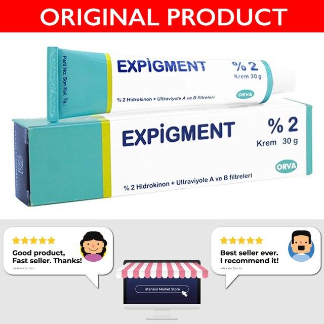 Expigment 30g 1 self Hydroquinone Cream 2% For Skin Bleaching Skin Lightening Whitening Skin Melasma Anti-blemish-made in Turkey 2