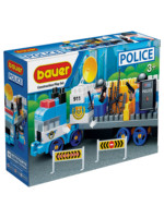 Developing children's construction set Bauer 630 Police set Truck with weapons and rapid response team