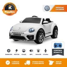 COCHE DE BATERIA 12V LICENCIA OFICIAL VW PARA NIÑOS / VOLKSWAGEN BEETLE BLANCO
