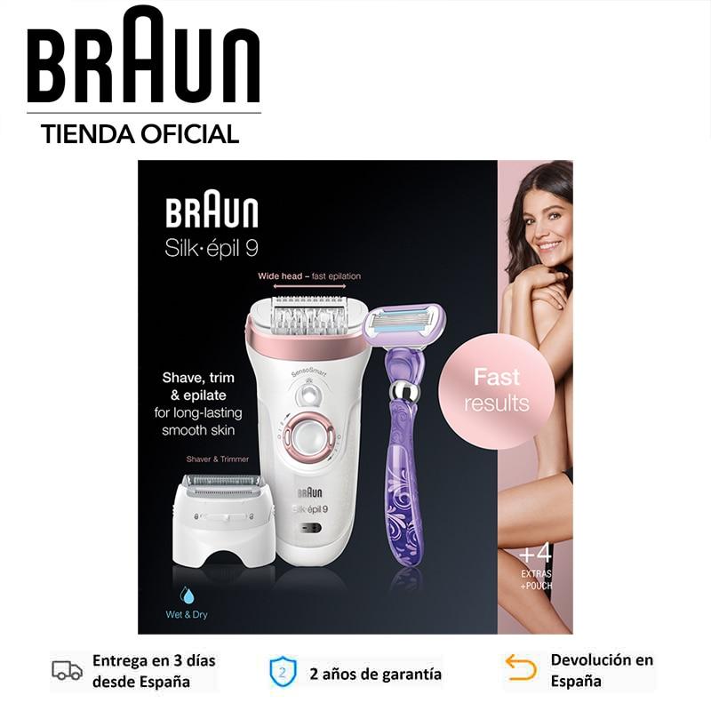 Braun Silk épil 9 870 Wet Dry Women S Electric Epilator Sensosmart Extra Wide Head Microgrip Technology Up To 50 Min Epilators Aliexpress
