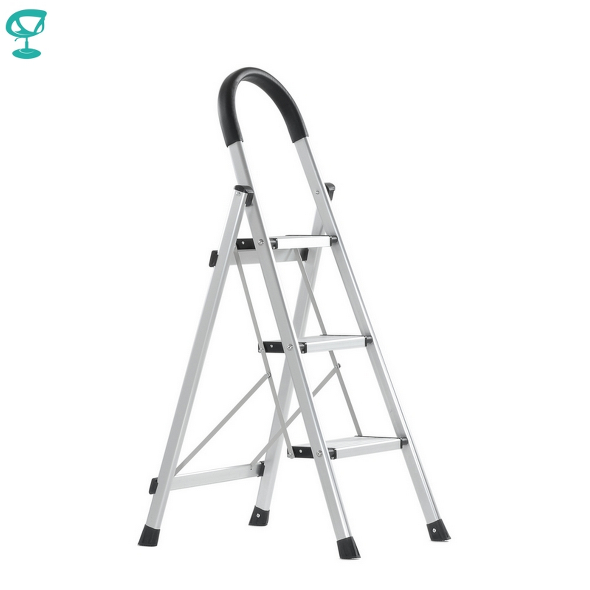 95674 Barneo st-23 ladder aluminum 3 steps of single side max load 150 kg free shipping to Russia