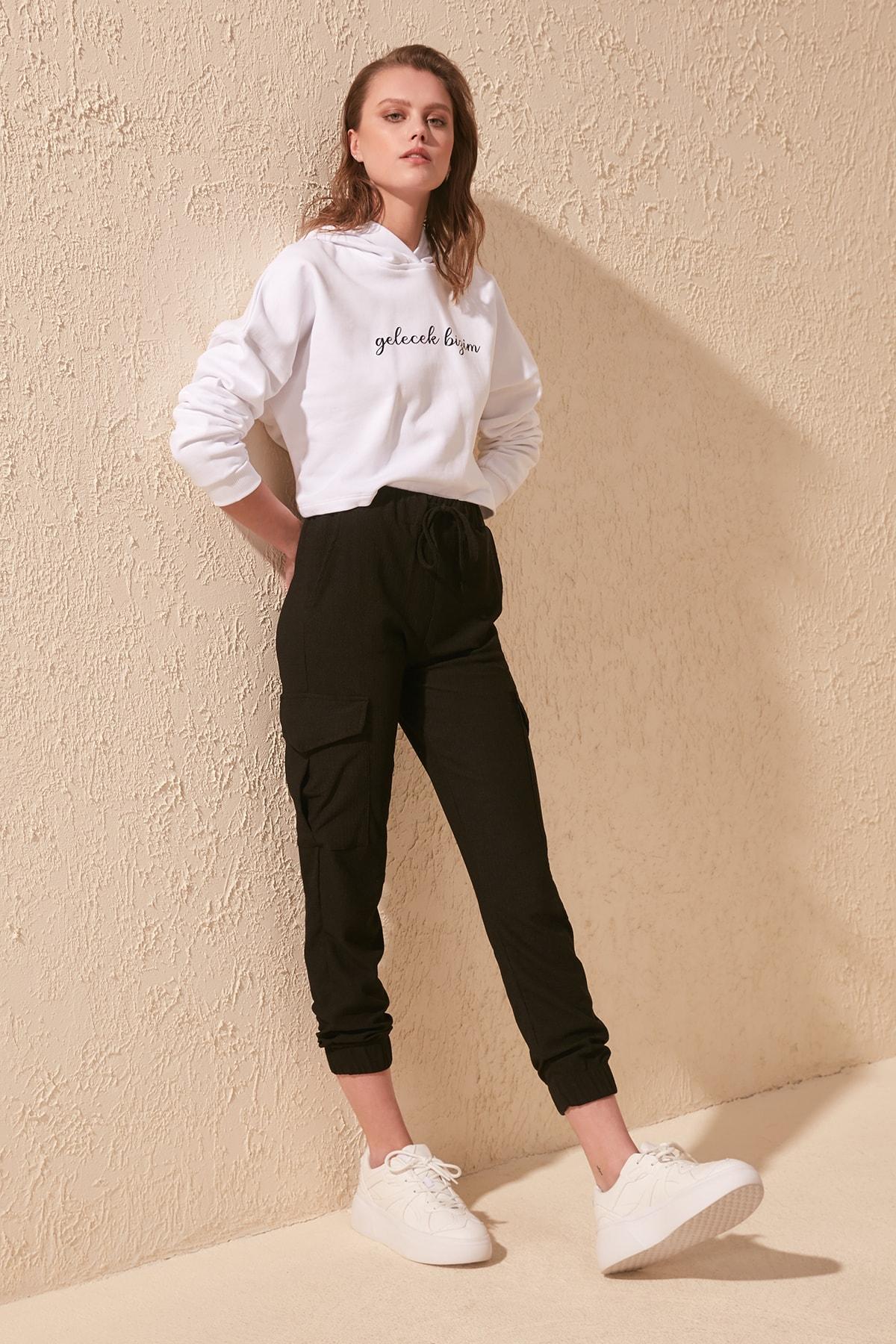 Trendyol Shir Detailed Knitting Pants TWOSS20PL0341