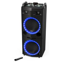 TOWER SPEAKER DJ WIRELESS BLUETOOTH 300W I SEND MICROFONO LED USB WARANTY GR 710DJ