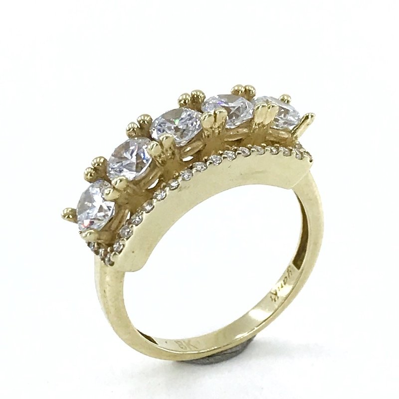 Showy Special Design 8 K Gold Dibs Ring