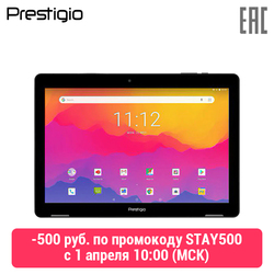 Tablet Prestigio Wize 3761 3G, Enkele Micro-Sim, 10.1 Wxga (1280 Х800) ips, 1.3 Ghz Quad Core Processor, Android 8.1, 1 Gb Ram + 16 Gb