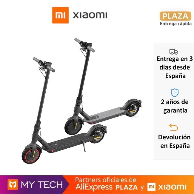 Xiaomi Mi Electric Scooter Pro y 1S, patinete eléctrico, plegado rápido, dos ruedas, doble freno, faro, panel multifunción Scooter eléctrico  - AliExpress