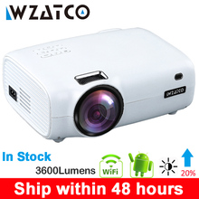 WZATCO E600 Android 9,0 Wifi inteligente portátil Mini Proyector LED soporte HDMI Full HD 1080p 4K Video casa teatro