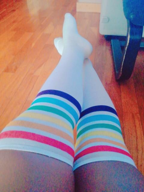 Socks high quality Thigh High Socks Over Knee Rainbow Stripe Girls long socks women over knee stripe 2020 New Arrival #N|Stockings|   - AliExpress