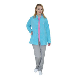 Женская медицинская утеплённая куртка IVUNIFORMA Карлея Голубая