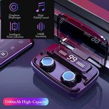 3300nah fone de ouvido bluetooth de alta fidelidade 9d estéreo led exibição energia sem fio fone esporte à prova dheadset água