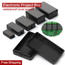 2pcs Black Waterproof Enclosure DIY Housing Instrument Case Plastic Project Box Storage Case Electronic Supplies Boxes 21 Sizes