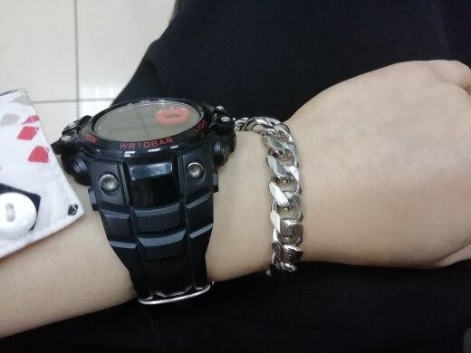Moorvan Jewelry Men Bracelet Cuban links & chains Stainless Steel Bracelet for Bangle Male Accessory Wholesale B284|bracelet mp3|bracelet jewerlybracelet craft - AliExpress