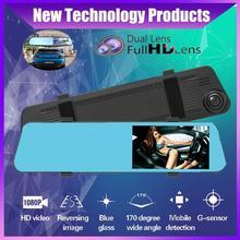 Kamera samochodowa tylna kamera 4 5 #8222 HD 1080p lusterko wsteczne 3w1 kamera tylna kamera samochodowa kamera na deskę rozdzielczą lusterko wsteczne dla auto dvr 3 w 1 4K tanie tanio OUIO CN (pochodzenie) Huawei Klasa 4 permanent 170 ° Samochód dvr 1920x1080 Zewnętrzny Wyświetlacz czasu i daty Wyświetlacz LED
