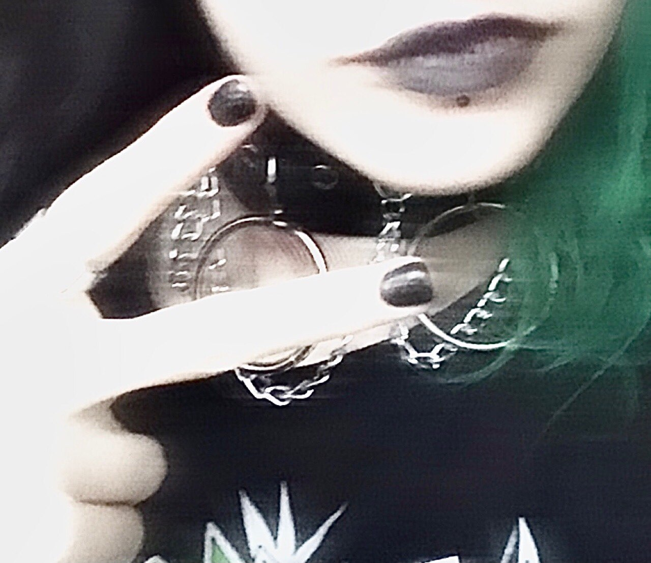 Chokerwith Chains and rings E-girl Pastel gothic photo review