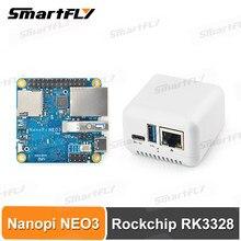 FriendlyElec Nanopi NEO3 Mini Placa de desarrollo (SBC) RK3328 puerto Gigabit Ethernet 1GB/2GB DDR4 RAM GSM/Ubuntu Nanopi NEO2